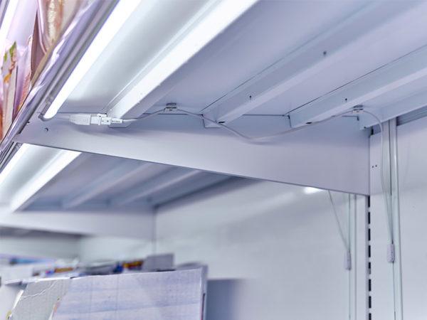LED Steckleiste Kühlregal