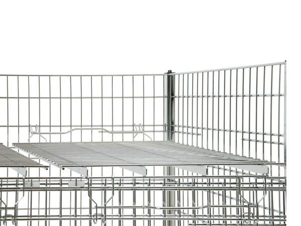 Gittertisch für produkte chrom