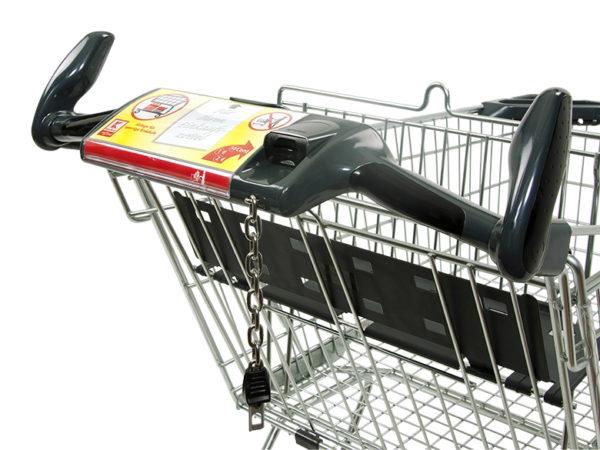 Einkaufswagen Griffe mit Werbetafel