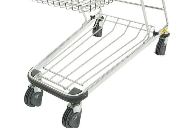 4 Rollen Einkaufswagen für flache Rolltreppe