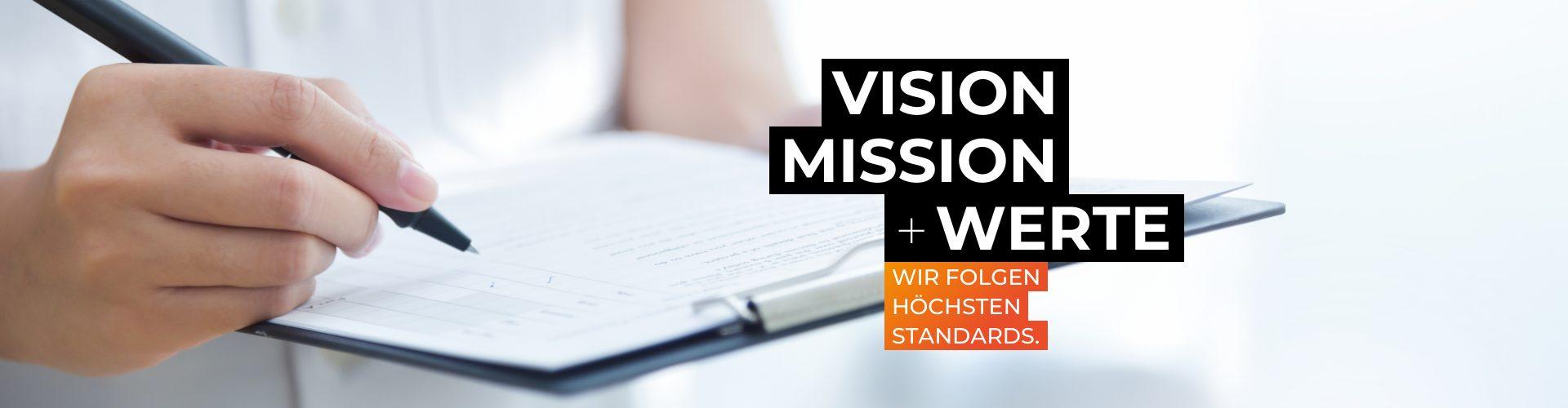 Vision und Mision Header