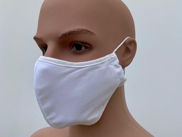 Mehrwegmaske angepasst an die Gesichtsform Tragebeispiel
