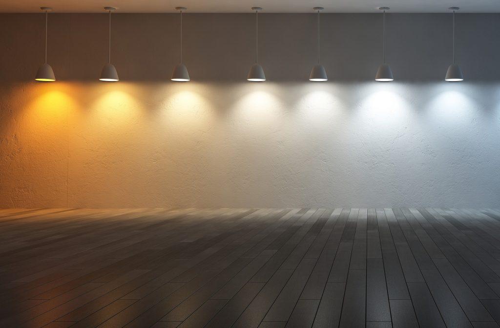 LED Lightning infront of wall