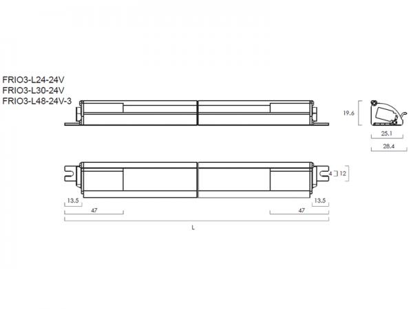 FRIO3 LED lenght
