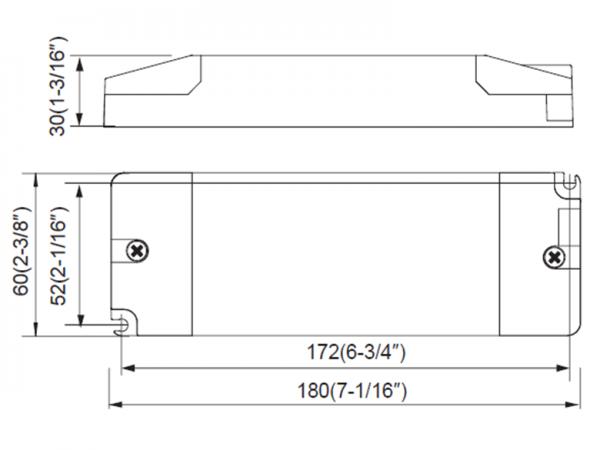 LED-Treiber-Maße